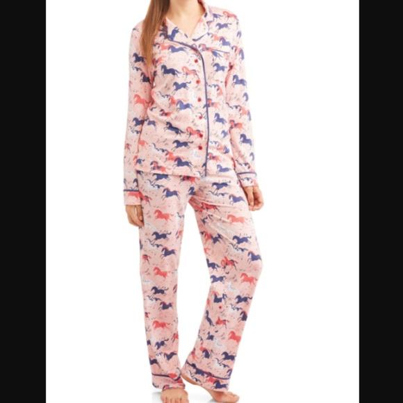 Munki Munki Running Horses Pajama Set Size M L XL a3d88670c